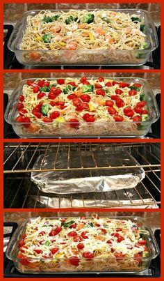 Baked Lemon Chicken Spaghetti Primavera