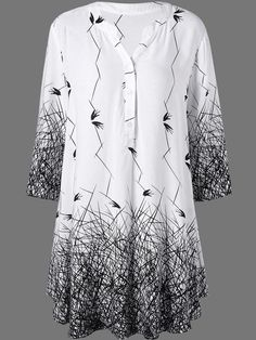 Specifications Product Name: V-Neck Abstract Print Blouse Weight: 150(g) Sleeve: Half Sleeve Material: Polyester Pattern Type: Abstract Print Occasion: Basic / Casual Package Included: Top / 1 Collar&neckline: V-neck Size chart as a reference: Sleeve Length Shoulder Length Bust xl Inchcm 1742 1743 3383 43110 xxl Inchcm 1743 1744 3384 45114 xxxl Inchcm 1744 1845 3385 46118 More Pictures