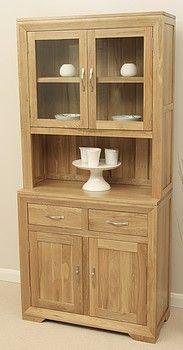 Bevel Solid Oak Glazed Dresser