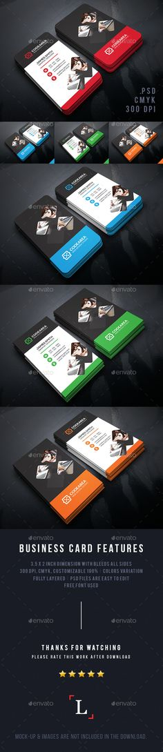 Corporate Business Cards Template PSD #design Download: http://graphicriver.net/item/corporate-business-cards/13707984?ref=ksioks