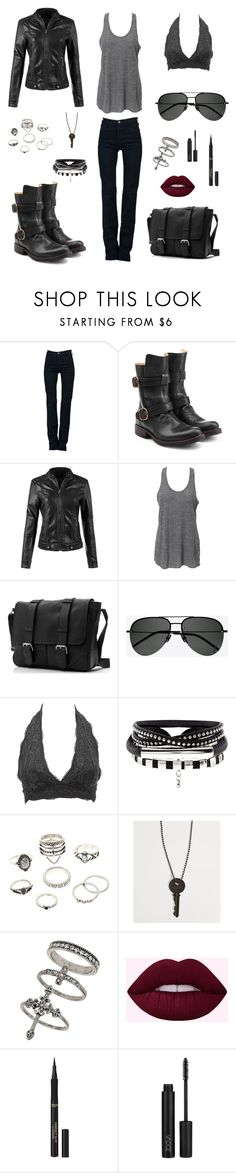 """Biker Chick"" by isabel-pasrod on Polyvore featuring J Brand, Fiorentini + Baker, Simplex Apparel, Yves Saint Laurent, Charlotte Russe, The Giving Keys, Miss Selfridge and L'Oréal Paris"