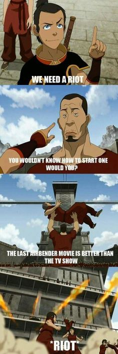 We need a riot, funny, Sokka, Chit Sang, The Boiling Rock, comic, movie; Avatar: the Last Airbender