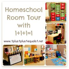 Homeschool Room Tour... how can you create a small portion of this for your Afterschool Express Child?