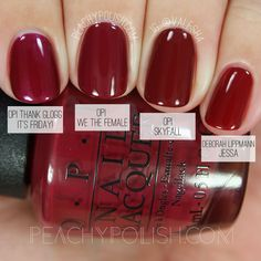 OPI We The Female | Washington D.C. Collection Comparisons | Peachy Polish