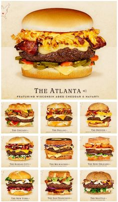 The illustrated rankings of favorite sandwiches tag yourself – Artofit Burger Menu, Gourmet Burgers, Burger And Fries, Burger Recipes, Beef Recipes, Cooking Recipes, Burger Ideas, Best Burger Recipe, Burger Bar
