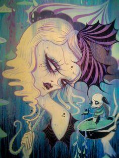 CamilleRose Garcia, Alice in Wonderland Kunst Inspo, Art Inspo, Art And Illustration, Camille Rose Garcia, Surreal Artwork, Dark Fantasy Art, Dark Art, Lowbrow Art, Pop Surrealism