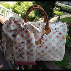 LOUIS VUITTON Limited Collection 100%  Authentic Louis Vuitton Watercolor Speedy 35.  No charm or Scarf...ONLY BAG Louis Vuitton Bags