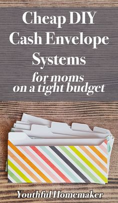 Finally stick to your budget with these super-cheap cash envelope systems, perfect for Dave Ramsey zero-based budgets