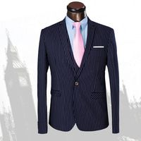Stripe Men Dress Suit Grooms Mens Tuxedos With Pants  Slim Fit Jacket Pants 6029