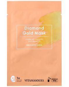 H Diamond Gold Dust Sheet Mask είναι μια πολυτελής ενυδατική κορεάτικη μάσκα προσώπου με σκόνη χρυσού, διαμάντι & μαργαριτάρι για τη λάμψη της επιδερμίδας. Glow Mask, Sheet Mask, Mask Making, Masks, Diamond, Day, Gold, Diamonds, Face Masks