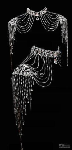 bridal jewelry, neck/shoulder area