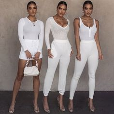 Which outfit is your favorite?   . . #dresses by @jluxlabel  . #fashion #style Casual Chic, Casual Shoes, Casual Outfits, All White Outfit, White Outfits, Everyday Outfits, Everyday Fashion, Special Occasion Dresses, White Jeans