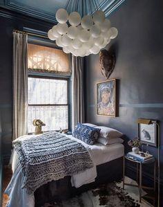Chambre bleu nuit et or | Chambre | Pinterest | Art and Decoration