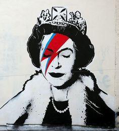 Lizzy Stardust, the new Banksy portrait Banksy Jubilee art on Upper Maudlin Street, near the Bristol Children's Hospital in the artist's home city.