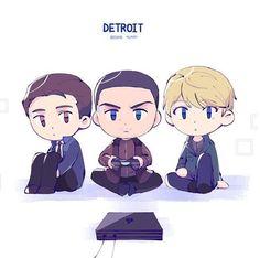 Detroit become human Connor, Markus, Kara