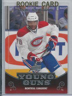 2010-11 Upper Deck P.K. Subban Young Gun Rookie Card # 231 Montrel Candiens