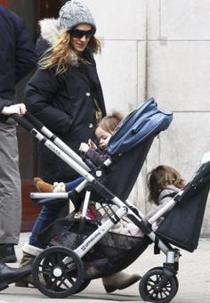 Sarah Jessica - Parker double strollers uppababy vista stroller