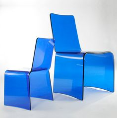 WALDEN- Monolithic acrylic chair and child's chair Acrylic Chair, Outdoor Furniture Plans, Chairs, How To Plan, Home Decor, Hipster Stuff, Decoration Home, Room Decor, Stool