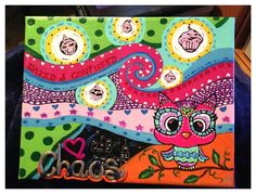 Original Custom Hand Painted on 8x10 Canvas  Colorful  by ODsGirl, $20.00