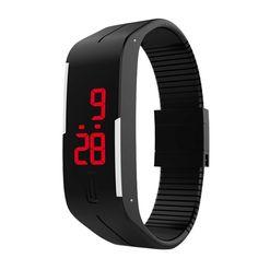 2016 New Fashion Touch Screen LED Bracelet Digital Watches Men Women Wrist Watch Sport Wristwatch Silicone Watch