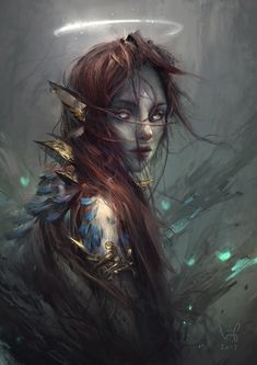 Hayla - Portrait 01, Le Vuong on ArtStation at https://www.artstation.com/artwork/Bzeql