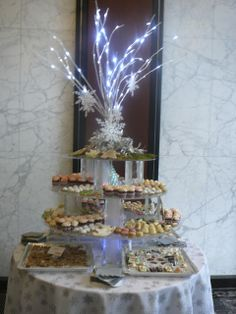 Stationary Display of Assorted Desserts for a Holiday Party - Jules Catering