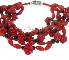 Natural Coral Bracelet jewelry  http://www.beads.us/product/Natural-Coral-Bracelet_p84077.html