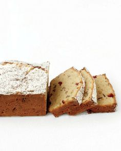 Pound Cake Recipes // Gluten-Free Pound Cake with Cranberries Recipe