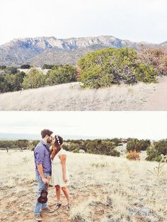 New Mexico engagement session, couple, Elena Gallegos park, desert romance, love, kissess, embrace, photo shoot, engagement, Lillabella Photography