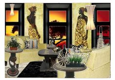 Check out this moodboard created on @olioboard: African Influence by teejayinteriors