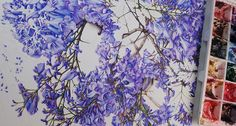 Jacaranda Painting - A Major Work in Watercolour - Heidi Willis Day And Time, No Time For Me, Textures And Tones, Heart And Mind, Big Picture, Tangled, Watercolour, Things To Come, Colours