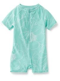 Floral One-Piece Rashguard for Baby