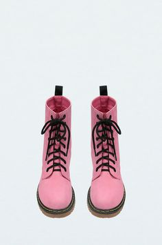 Pink Lace Up Boots #TALLYWEiJL #new #collection