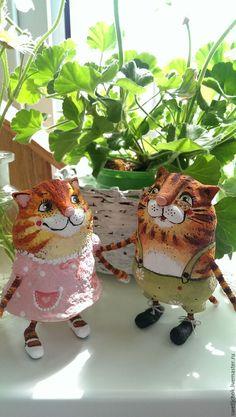Купить Оранжевые котики - рыжий, оранжевый, кот, котик, котики, парочка, мурлыка