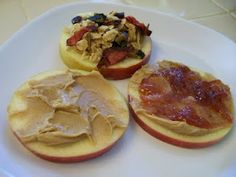 Shelly's Open Faced Apple Sandwiches