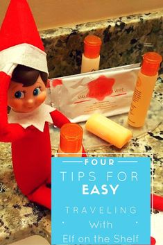 Traveling during the holidays? These 4 tips for traveling with elf on the shelf will make your life easier.