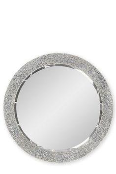 Home decor on pinterest mirror uk online and sunburst mirror for Silver sparkle bathroom mirror