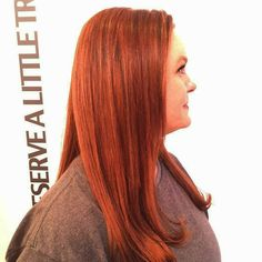 We help keep redheads shining! The result of a silk lift purifying treatment with some color balancing is a vibrant and multidimensional copper.  #12thsouth #nashvillehair #trimnashville #trimlegendarybeauty #haircolor #hair #nashville #iamgoldwell  #nashvillecolorist #nashvillestylist
