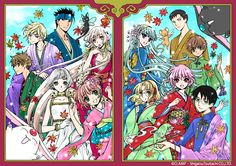 "A CLAMP Art Exhibition will be held at the 2014's ""Kyoto International Manga Anime Fair"" from September 20 and 21st. The exhibit is being orgazined by Kodansha and will feature more than 100 original art pieces from ""Magic Knight Rayearth"", ""Card Captor Sakura"", ""CLOVER"", ""Chobits"", ""Tsubasa"" and ""XXXHOLiC"". CLAMP has specially drawn this illustration that will be featured on original goods to be sold at the exhibition."