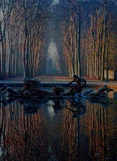 Gardens of Versailles in autumn.