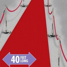 Red Carpet Runner 40ft - Party City $19.99  for the entrance to the reception