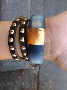 Customized FuelBand Ice with DIY gold clasp. #armparty #style #diy #nike (Tech Style Shoes Outlet)