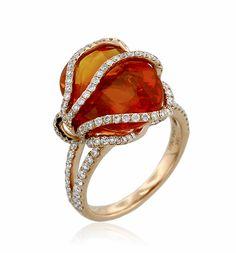 ANNE SPORTUN Sunburst Collection Sapphire Ring | Elemental Autumn | Eco Fashion Jewelry | Organic Spa Magazine