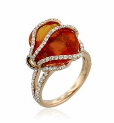 ANNE SPORTUN Sunburst Collection Sapphire Ring | Elemental Autumn | Eco Fashion Jewelry | Organic Spa Magazine