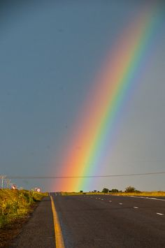 Found the rainbow at the end of the road: South Africa about 100 miles south of Johannesburg.