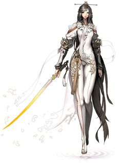 Female Design - Game: Blade & Soul  Love the character designs for this game, the art style is just pure love!