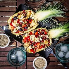 fruity pineapple punch Pineapple Punch, Paella, Salads, Ethnic Recipes, Food, Pineapple, Salad, Hoods, Meals