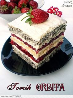 Polish Desserts, Polish Recipes, No Bake Desserts, Delicious Desserts, Baking Recipes, Cake Recipes, Dessert Recipes, Baking Cupcakes, Cupcake Cakes