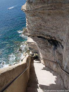 Escalier du Roy d'Aragon - Bonifacio en Corse du sud