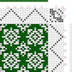 Hand Weaving Draft: huw564_006, Drawdown Automata Project, 8S, 8T - Handweaving.net Hand Weaving and Draft Archive